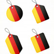 Vector set of labels with germany flag — Vettoriali Stock