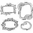 Vintage hand drawn frames collection — Stock Vector