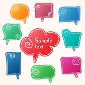 Twisted hand drawn speech bubbles — Stock Vector