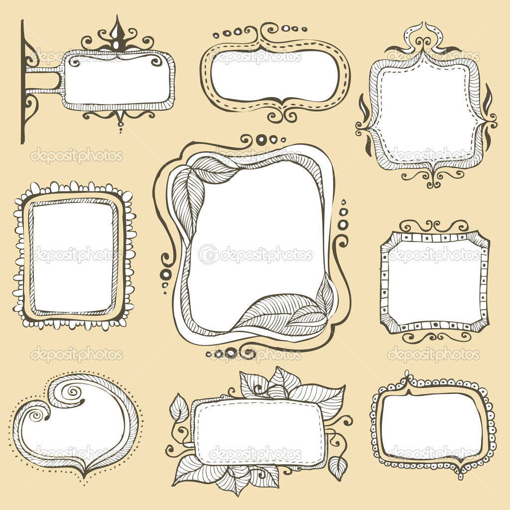 Displaying 20> Images For - Hand Drawn Frame...