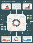 详细信息图表元素设置的图形和图表 — 图库矢量图片