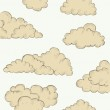 Vintage hand drawn clouds — Stock Vector #26210713