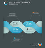 Infographic options template — Stock Vector