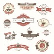 Set of coffee vintage badges and labels — ベクター素材ストック