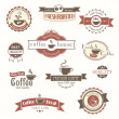 Set of coffee vintage badges and labels — Imagen vectorial