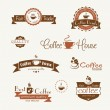 Set of coffee vintage badges and labels — Stock Vector