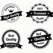 Collection of premium quality vintage labels — Imagens vectoriais em stock
