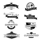 Collection of premium quality vintage labels — Stock Vector