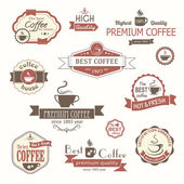 Set of coffee vintage badges and labels — Stok Vektör