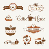 Set of coffee vintage badges and labels — Vettoriale Stock