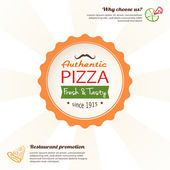 Pizza design template for menu, banner, advertising etc — Stock Vector