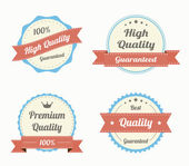 Collection of premium quality vintage labels in color — Stockvektor