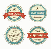 Collection of premium quality vintage labels in color — Stock Vector