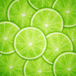 Lime fruit slices background — Stock Vector #28135107