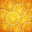 Stock Vector: Orange fruit slices background
