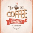 Stock Vector: Vintage coffee poster with grunge effects