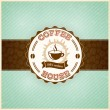 Vintage coffee menu template with grunge effects — Stock Vector