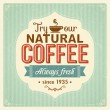 Vintage coffee poster with grunge effects — Stock Vector
