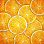 Orange fruit slices background — Stock Vector