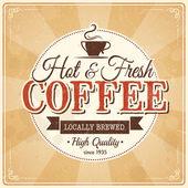 Vintage koffie poster met grunge effecten — Stockvector