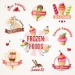 Ice cream labels and badges collections — Stock Vector #48506721