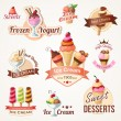 Ice cream labels and badges collections — Stock Vector #48506735