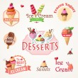Ice cream labels and badges collections — Stock Vector #48506745