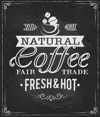 Coffee label on chalkboard — Stockvector