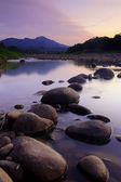Rocks and river at Sunset — Stock Photo
