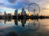 Sunrise at Singapore city — Stock Photo