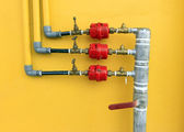Water pipes and meter — Stock Photo