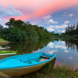 Stock Photo: Boats beside lake at Sabah, Malaysia
