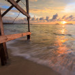Stock Photo: Sunset at beach in Borneo, Sabah, Malaysia