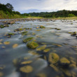 River with mossy rocks at Sabah, Borneo, Malaysia — Stock Photo #35668459