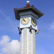 Clock tower with blue sky at Kudat, Sabah, Malaysia — Stock Photo