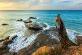 Coastal landscape at Sabah, Borneo, Malaysia — Stock Photo