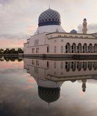 Kota Kinabalu floating mosque at Sabah, Borneo, Malaysia — Stock Photo