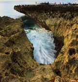 Coastal landscape at Water Blow, Bali, Indonesia — Stock Photo