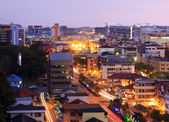 Cityscape at twilight in Sabah, Borneo, Malaysia — Stock Photo