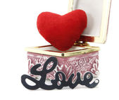 Love and heart in a box — Foto Stock