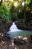 Waterfall in a rainforest at Sabah, Borneo, Malaysia — Stock Photo