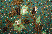 Fabric with floral batik pattern — Stock Photo