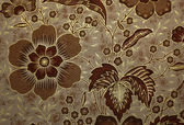 Fabric with floral batik pattern — Stok fotoğraf