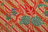 Fabric with floral batik pattern — Foto Stock