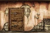 Fantasy wall — Stock Photo