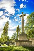 Cemitério ensolarado — Foto Stock