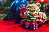 Christmas Vintage Bear — Stock Photo