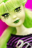 Green Punk Doll — Stock Photo