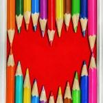 Heart Pencils Shape — Stock Photo