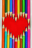 Heart Pencils Shape — Stock Photo